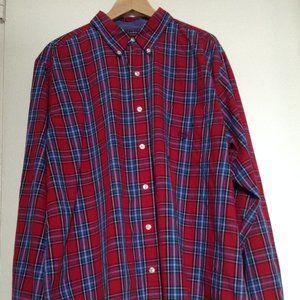 Mens' Classic Plaid Shirt by Chaps, Sz. XL